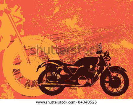 Motorbike grungy background vector - stock vector