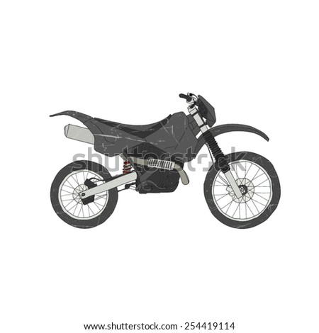 Motorbike isolated - stock vector