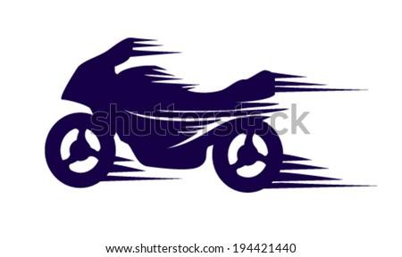 motorbike with speed effect vector - stock vector