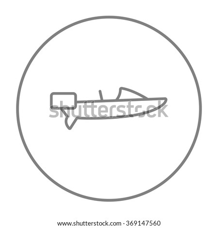 Motorboat line icon. - stock vector