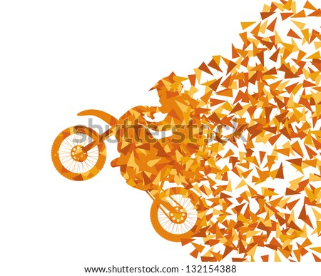Motorcycle abstract background vector - stock vector