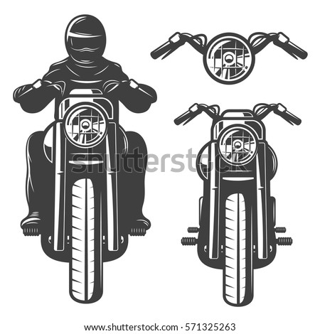 motorcycle chopper front motorcycle driver monochrome wheel headlamp