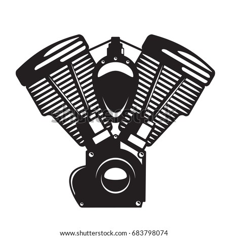 Twin Stock Images Royalty Free Vectors Shutterstock Motorcycle Engine Emblem