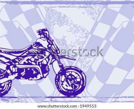 Motorcycle Grunge Background Series. - stock vector
