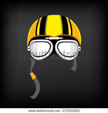 Motorcycle Helmet Vector Front Stock Vector Motorcycle Helmet