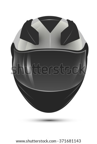 motorcycle helmet with visor. realistic isolated vector.