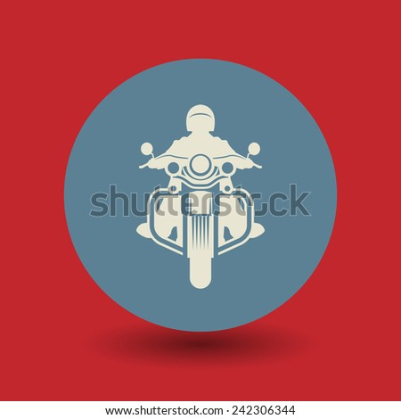 Motorcycle icon or sign, vector illustration - stock vector
