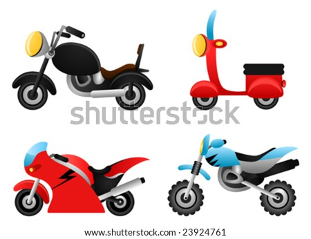 motorcycle illustrations vector - stock vector
