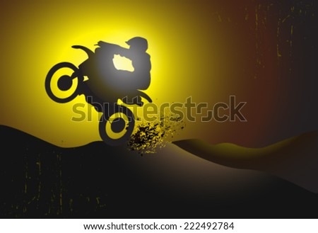 motorcycle motocross background design  - stock vector