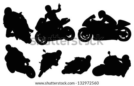 Motorcycle racing - stock vector