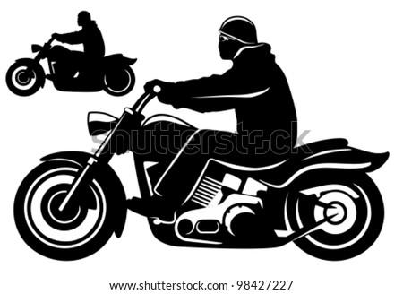 motorcycle rider stock images  royalty free images harley davidson skull logo stencil harley davidson logo outline stencil