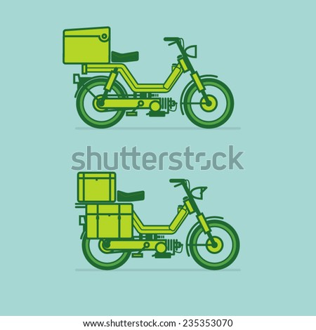 motorcycle service - stock vector
