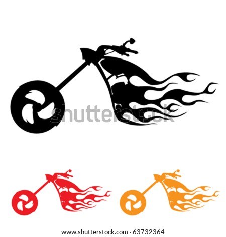 motorcycle symbol - stock vector
