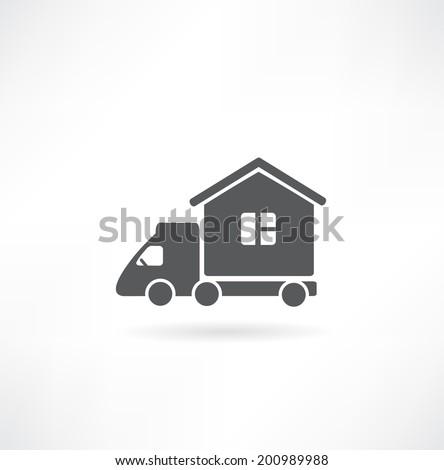 Motorhome car icon. Vector illustration. - stock vector