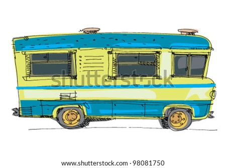 motorhome - cartoon