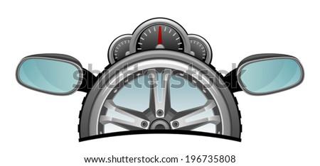 Motorized - stock vector