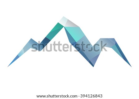 mount triangle vector  illustration