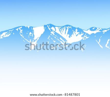 Mountain background - stock vector