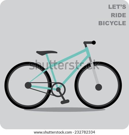 Mountain bike - stock vector
