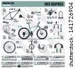 Mountain bike info graphic elements, vector - stock vector