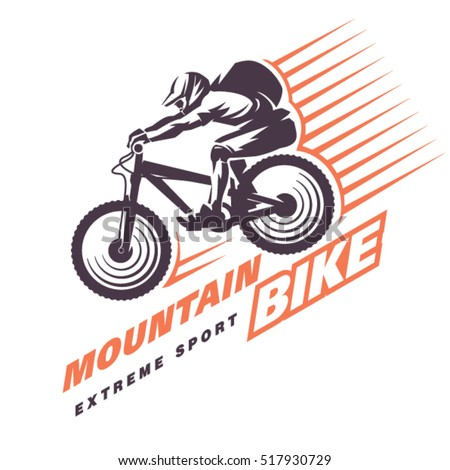 Mountain Bike Trials Sport Emblem Stock Vector 517930729 ...