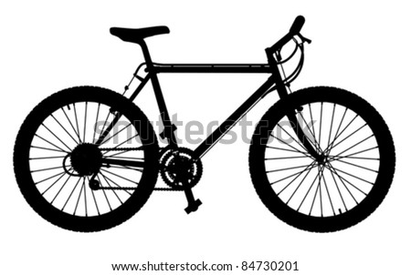 mountain bike, vector