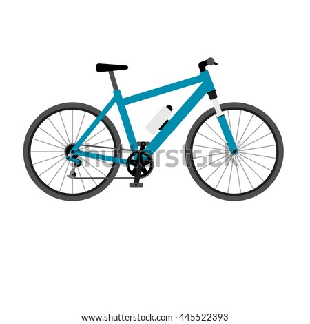 Mountain bike. Vector icon isolated on white background