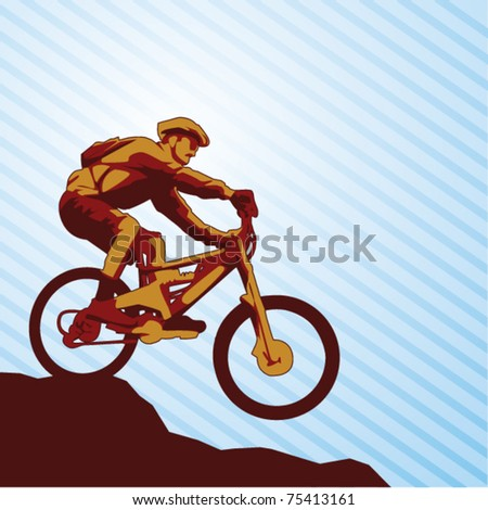 mountain bike vector/ mountain bike vector illustration/ very nice mountain bike vector - stock vector