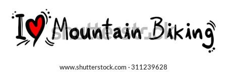 Mountain Biking love - stock vector