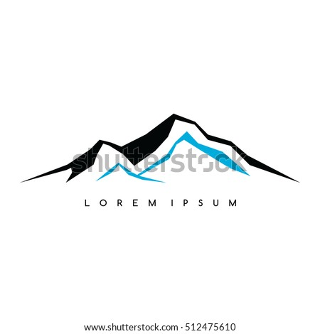 Mountain Everest outdoor adventure insignia Climbing trekking hiking mountaineering and other extreme activities logo template