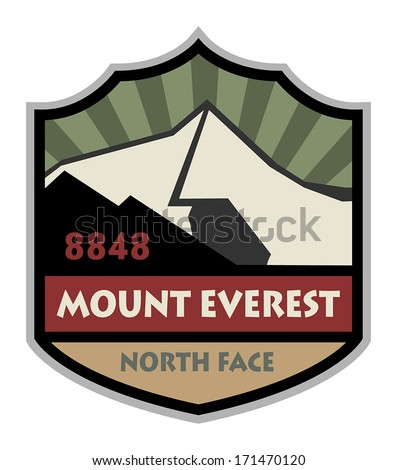Mountain expedition sign, vector illustration - stock vector