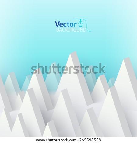 mountain geometry - stock vector