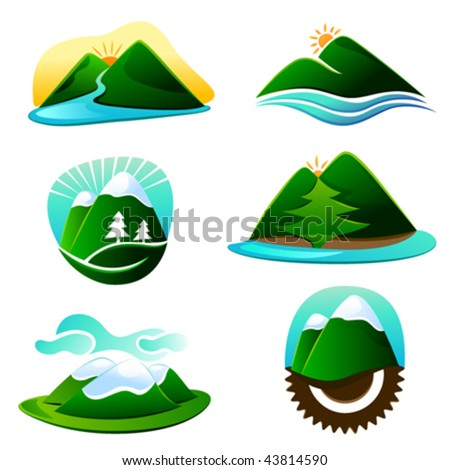 mountain graphic elements - stock vector