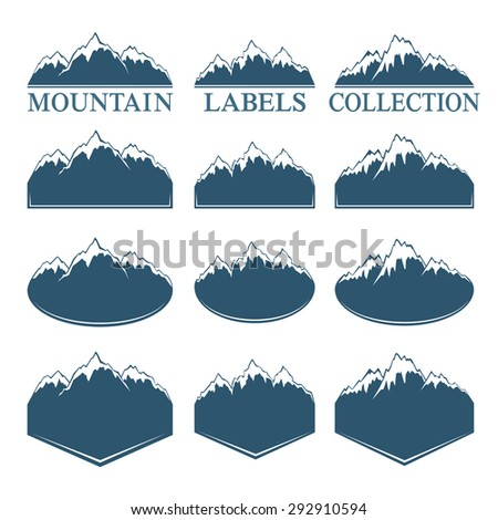 Mountain labels collection - stock vector