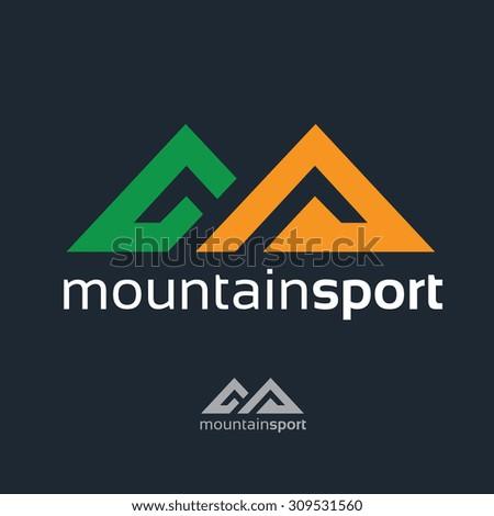 Mountain Logo,Mountain Sport logo,Sports logo,Adventures logo,Vector Logo Template - stock vector