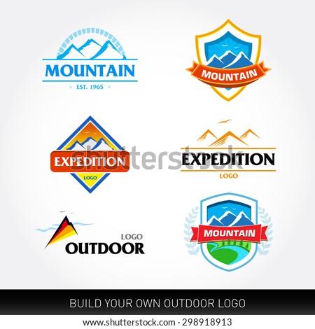 Mountain Logo Outdoor Travel Adventures Logotypes Vector Logo ...