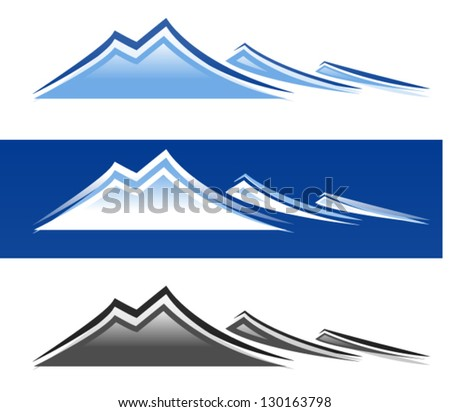 Mountain Peaks - stock vector