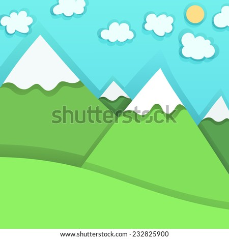 Mountain Peaks, vector illustration - stock vector