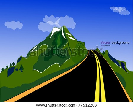 Mountain road. Vector format - stock vector