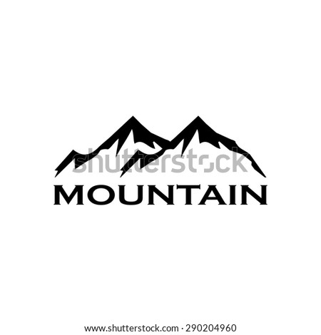 mountain abstract logo stock vector 609615359 shutterstock. Black Bedroom Furniture Sets. Home Design Ideas
