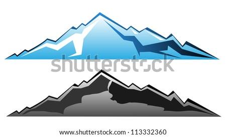 Mountain vector. - stock vector