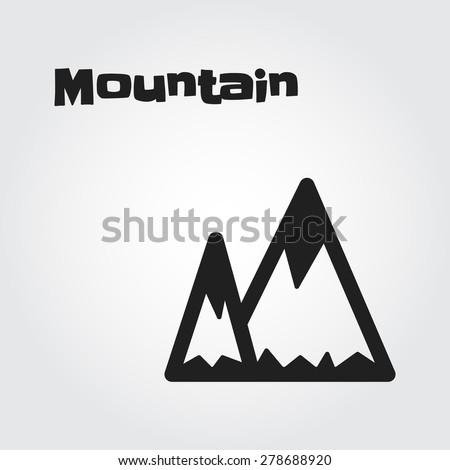Mountain vector - stock vector