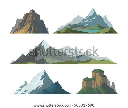 Mountains stock images royalty free images vectors shutterstock mountain vector illustration landscape mature silhouette element outdoor icon snow ice tops and decorative isolated camping sciox Gallery