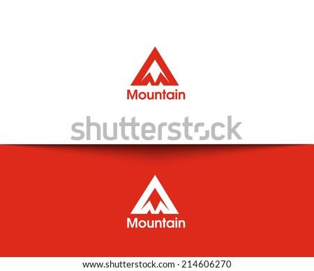 Mountain web Icons and vector logo - stock vector