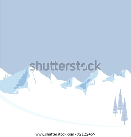 mountain with tree vector format - stock vector