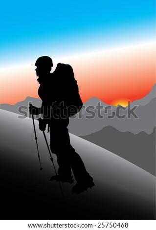 mountaineer - stock vector