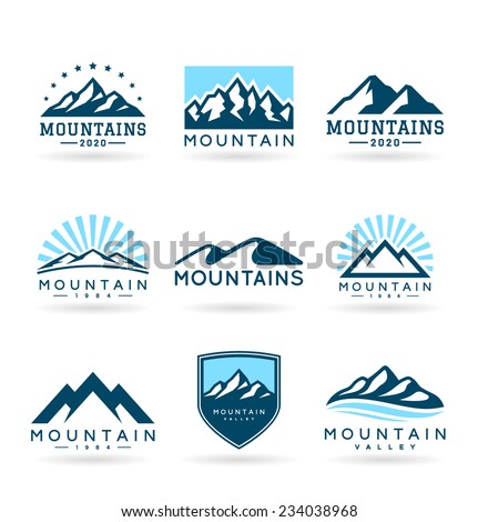 Mountains (4) - stock vector