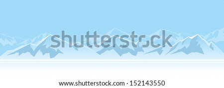Mountains in the afternoon - stock vector