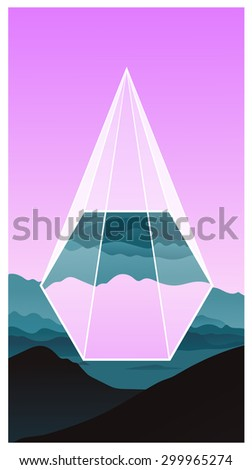 mountains purple