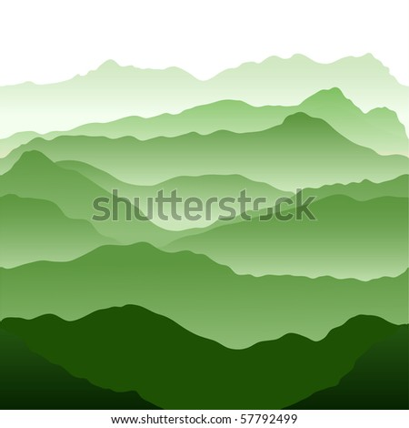 Mountains. Seamless vector illustration - stock vector